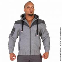 Disturbed Jacket Gray Melange