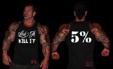 LOVE IT KILL IT - 5% - MEN'S TANK TOP BLACK WITH WHITE #64