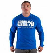 Gorilla Wear Rubber Printed Longsleeve (Royal Blue)
