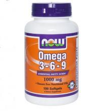 NOW Omega-3-6-9 1000 mg (100таб.)